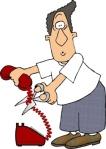 Man-cutting-phone-wire